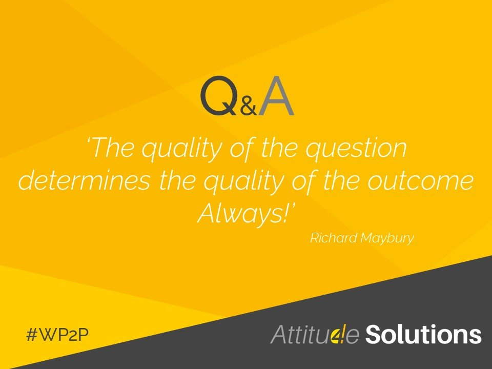 The quality of the question determines the quality of the outcome always Richard Maybury