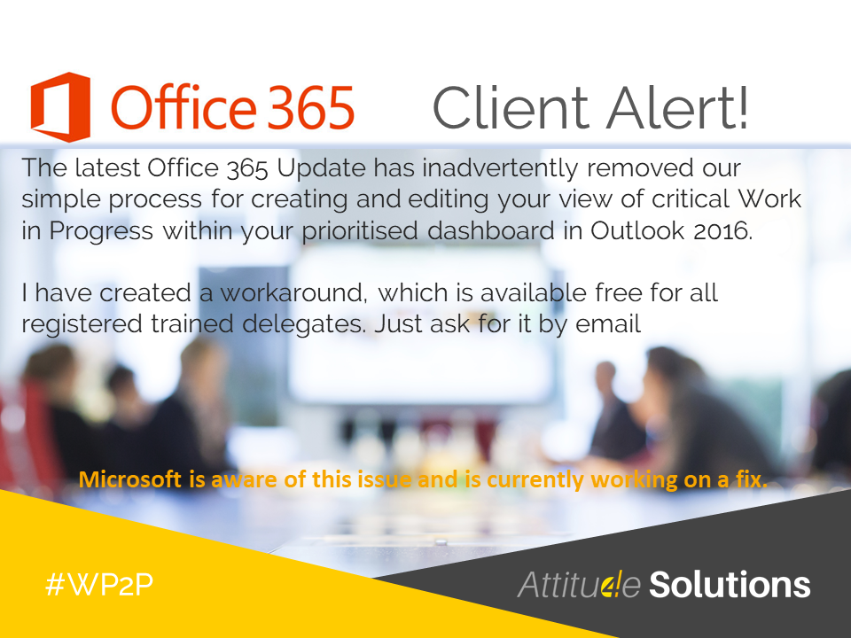 Office365 and Outlook 2016 productivity tip
